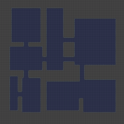 How to procedurally generate a dungeon using the BSP method